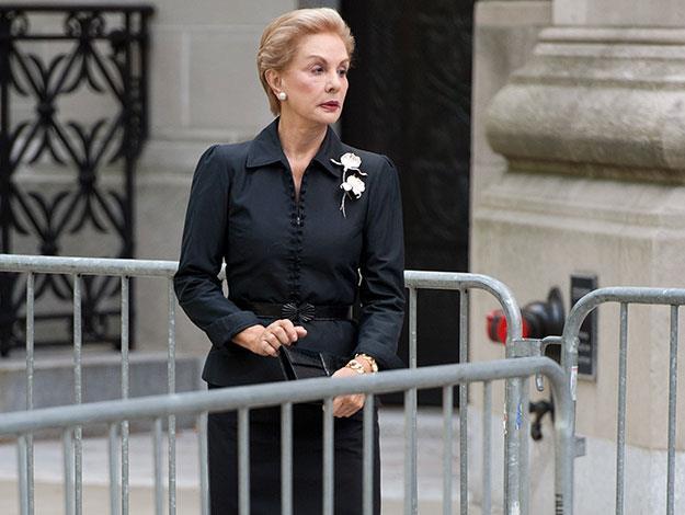 Iconic American fashion designer Carolina Herrera.