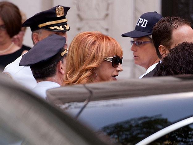 Joan's close friend and fellow comedian Kathy Griffin can be seen arriving.