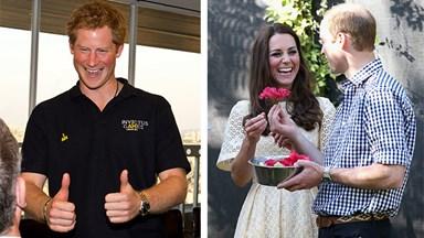 Cheeky Prince Harry welcomes baby news