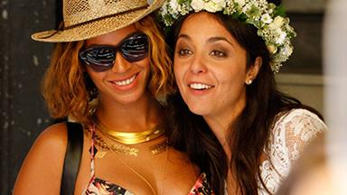 Beyonce crashes a wedding in Italy
