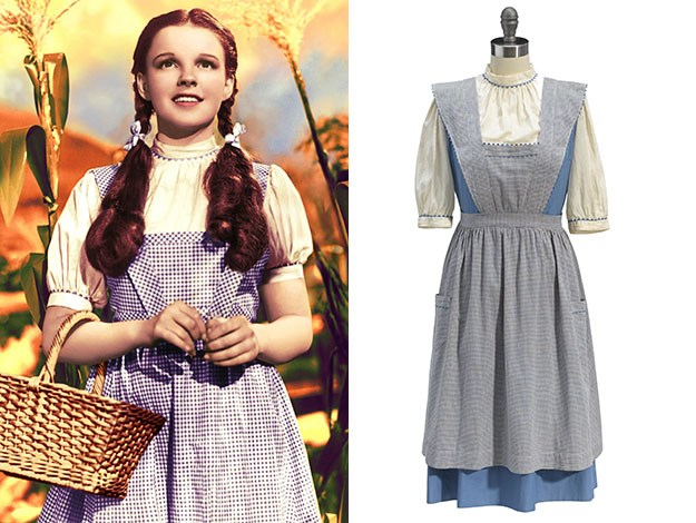 This test version of Judy Garland's Dorothy costume from the 1939 film the Wizard of Oz is expected to sell for AUD $320,000 at auction.