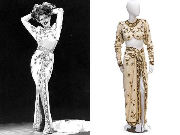 Rita Hayworth's midriff-bearing costume from Gilda is expected to fetch between AU$ 43,000 - 64,000.