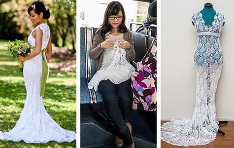 Bride hand-made her own amazing wedding dress for $30