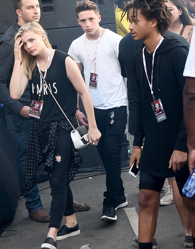 *The pair were spotted attending the 'made in America' music festival together, along with Jaden Smith.*
