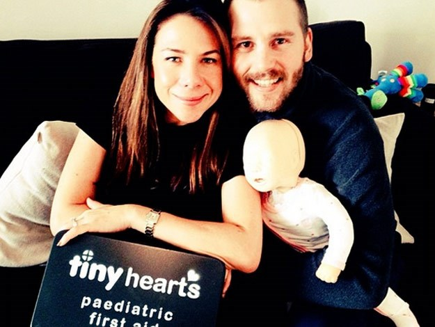 In the lead up to the birth of their baby girl Mae, Kate and Stuart posted this cute couple photo together with some of the many gifts they'd received for the baby they were expecting.