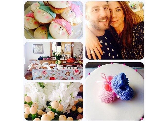 Kate also posted this selfie with Stuart along with images of the many goodies at her baby shower in the lead up to the birth.