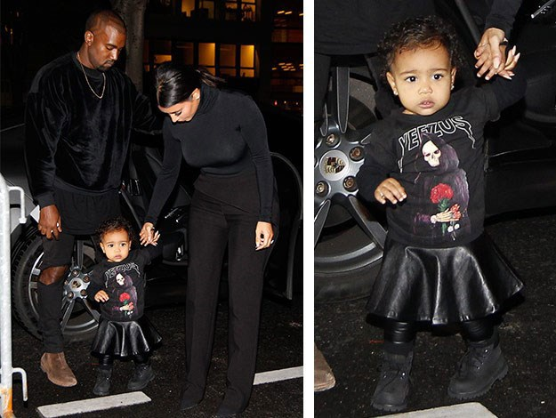 Thankfully kIMYE did not have little North West with them at the time of the attack, although she was seen with them the day before in an all-black outfit and Yeezus t-shirt coordinating with her parents.