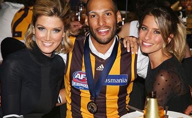 Delta Goodrem seen getting cosy with AFL player