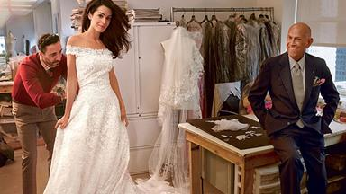 Behind the scenes: A glimpse at Amal's bridal gown fitting