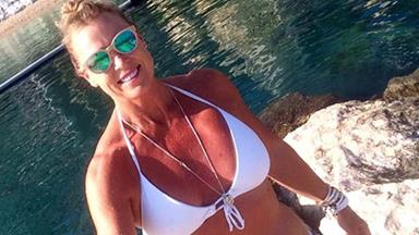 Lisa Curry looks amazing in a bikini as she enjoys a holiday in Europe