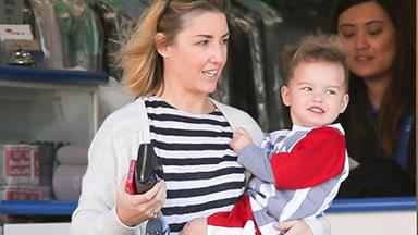 Jules Sebastian and son Hudson enjoy a sunny day out!