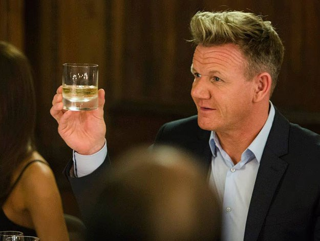 Foodie and good friend to the Beckhams, chef Gordon Ramsey was also at the launch in Scotland to raise a toast to David and his new liquor.
