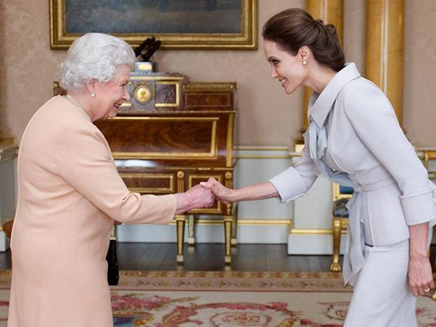 Angelina is made an Honorary dame by the Queen.