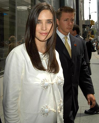 Jennifer Connelly was constantly stuffing in her mouth pretzels dipped in cream cheese, she told Dave Letterman.