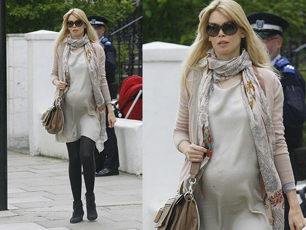 Claudia Schiffer said she that during pregnancy she was thirsty for non-alcoholic beer and wanted to eat lots of doughnuts.