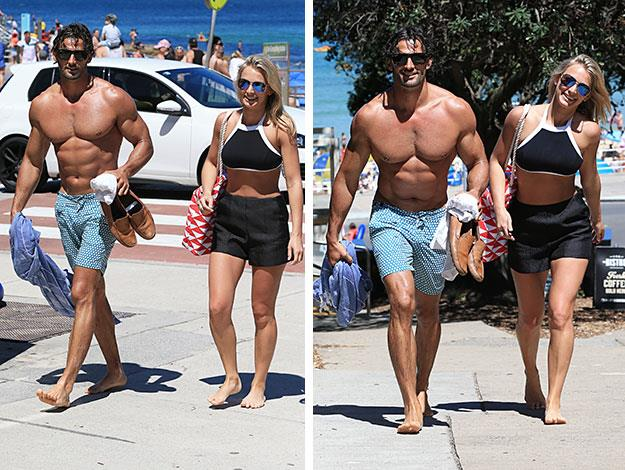 Anna and Tim looked relaxed as they hit the beach in Bondi.