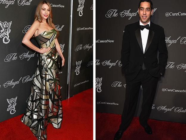 Sofia and Nick Loeb both walked the red carpet at the Angel ball - a charity fundraiser event in New York.