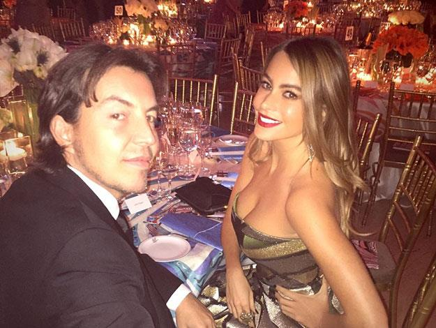 Sofia posted this snap from inside the event with her date - her 22-year-old son Manolo.