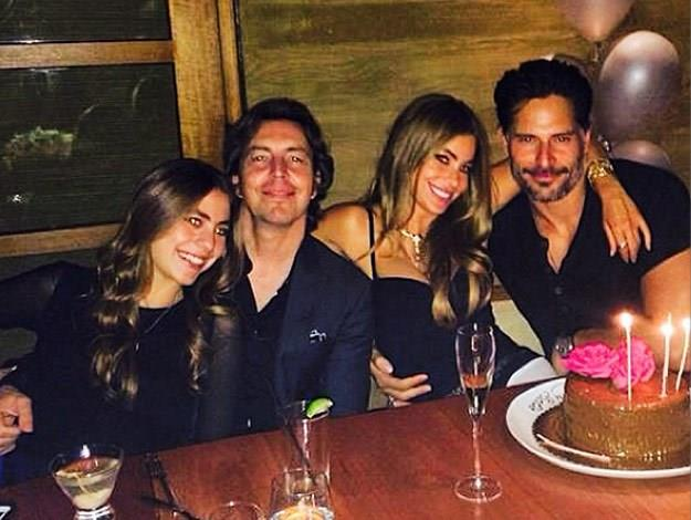 Here Joe was seen joining Sofia for her recent birthday celebrations.