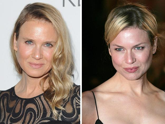 The moviestar is barely recognisable from her days as *Bridget Jones*.
