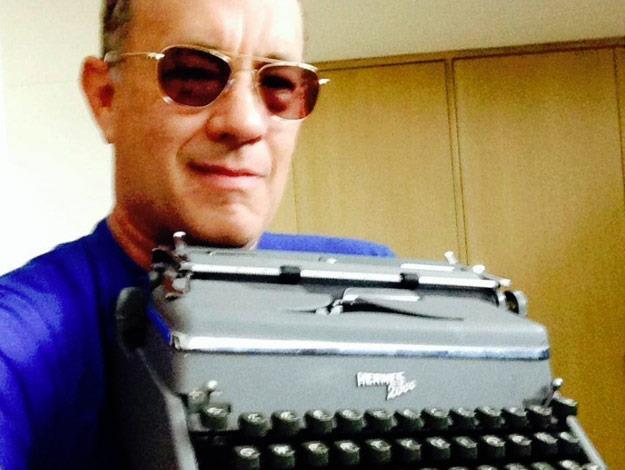 Tom says he still uses a typewriter...everyday!