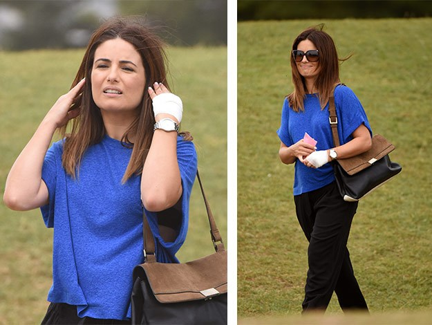 Ada Nicodemou is all smiles and looks very much at home on set of Home and Away!