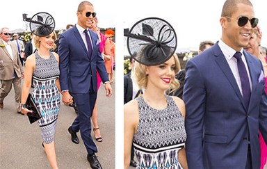 The Bachelor's Blake Garvey & Louise Pillidge put on a united front at Melbourne Cup!