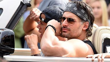 Channing Tatum & Joe Manganiello show off bulging biceps on set of Magic Mike sequel!