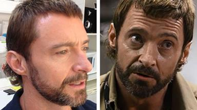 "Hugh Jackman turns back time with mullet for new movie ""Chappie"""