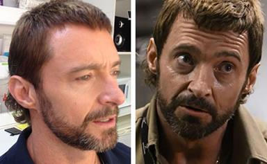 """Hugh Jackman turns back time with mullet for new movie """"Chappie"""""""