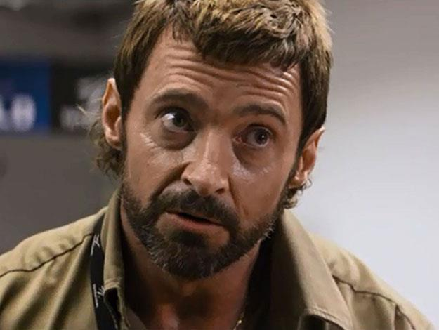 Hugh stars as Vincent - the villain of the film, who is determined to capture and turn the movie's robot protagonist into scrap-metal