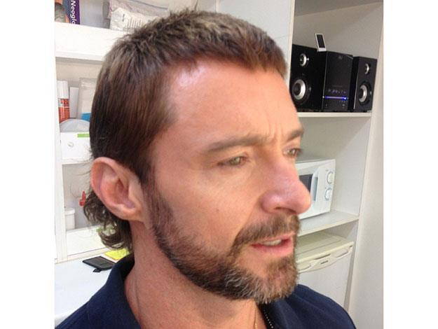 When Hugh first debuted the mullet cut earlier this year to get into character as Vincent, he posted this selfie to Instagram.