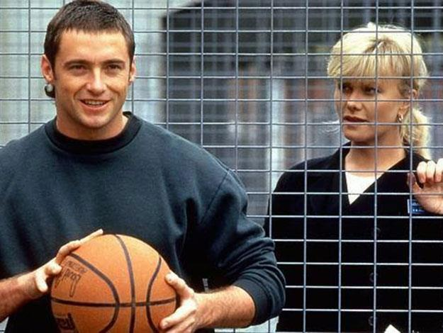 His new 'do harks back to his days as a crim in the 1995 TV Show Corelli, on which he also met his future wife Deborra Lee Furness- who also sported a mighty impressive mullet of her own!
