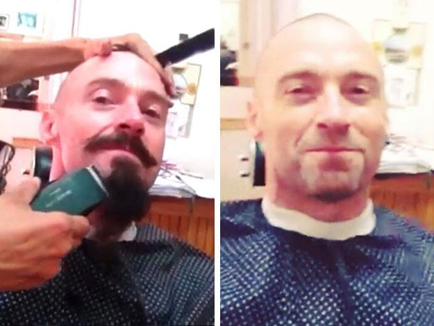 It was with much glee though that Hugh bid farewell to his pirate beard last month though, as he posted an Instagram video of himself gettign it shaved off!