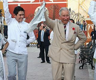 Prince Charles tries clog dancing in Mexico