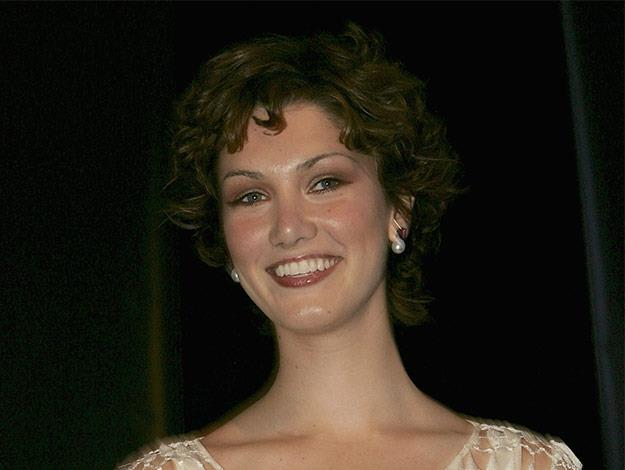 Delta Goodrem sports a cute curly pixie.
