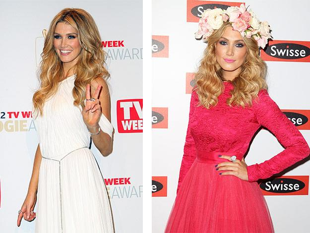 Delta is pretty in pink as she poses in the Swisse marquee at the Melbourne Cup at Flemington Racecourse on November 6, 2012.