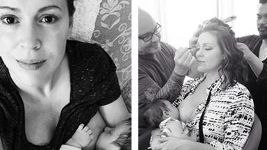 Alyssa Milano copies Gisele Bundchen, shares glamorous breastfeeding snap!