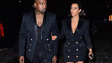 Kim and Kanye's matching outfits