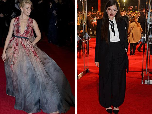 Left: Elizabeth Banks. Right: Kiwi singer Lorde, who released the movie's theme song Yellow Flicker Beat –on her 18th birthday.