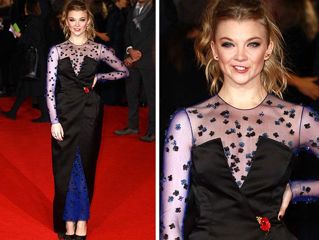 Game of Thrones star Natalie Dormer - who joins the Hunger Games franchise for the first time in this latest instalment.
