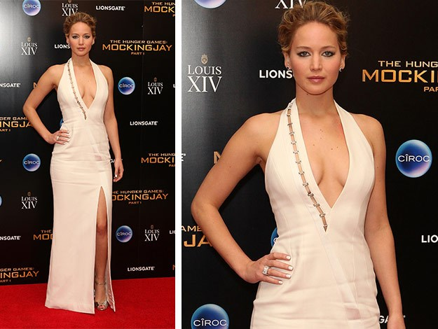 Jennifer Lawrence attends the after party following the World Premiere of 'The Hunger Games: Mockingjay Part 1'.