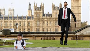 World's tallest and shortest men meet for the first time!