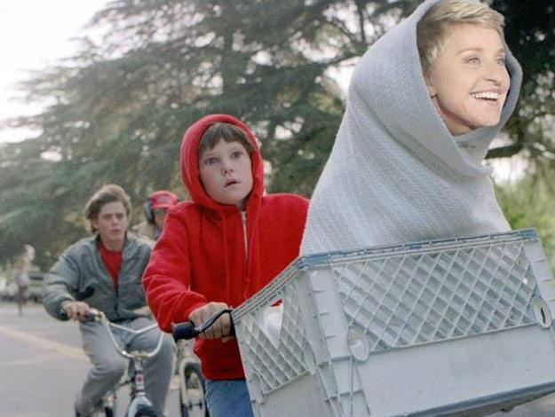 Ellen DeGeneres proves she's the queen of spoofs with this ET parody.