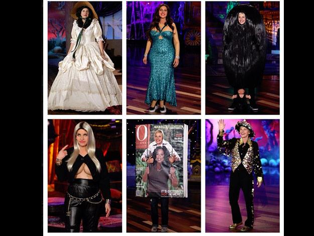 Ellen went all out this Halloween and dressed up as her favourite celebrity guests.