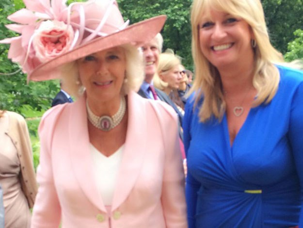 "Camilla, the Duchess of Cornwall, pictured here with Deborah was the first to introduce her bee venom products into the royal family, speaking to Hello! Online, Deborah called her the ""kindest, kindest person""."