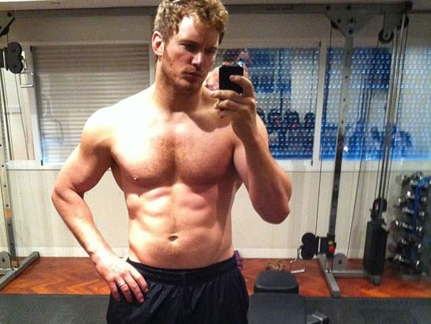 And just for one last piece of man-candy, Guardians of the Galaxy star Chris Pratt missed out on the top spot this year, but only just, coming in second,