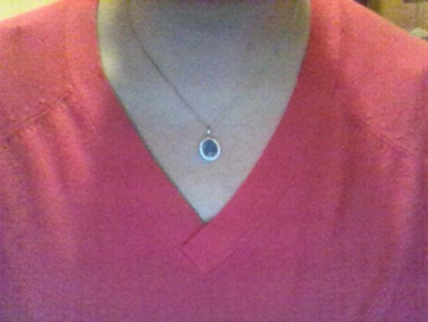 She also received an opal necklace from Australia