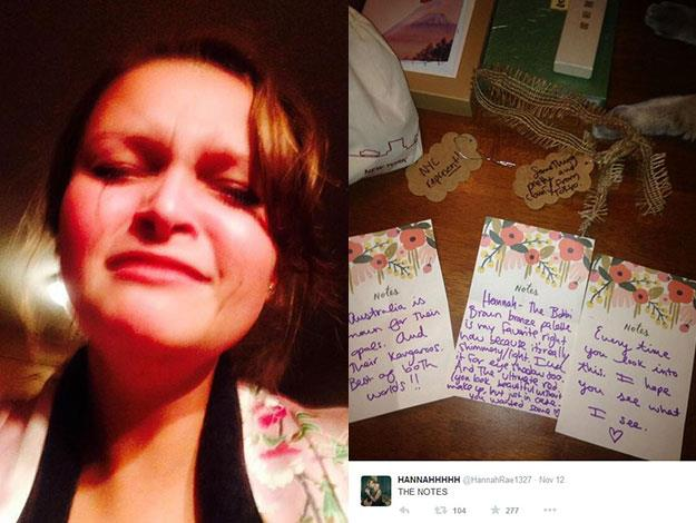 This fan - @HannahRae1327 – seemed rather overcome with emotion at reading her note from Taylor!