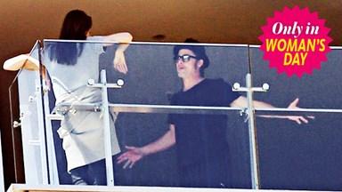 Brad and Ange's balcony blowout